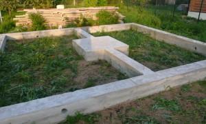 Как залить фундамент для бани своими руками