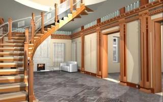 Лестница – необходимый элемент загородного дома